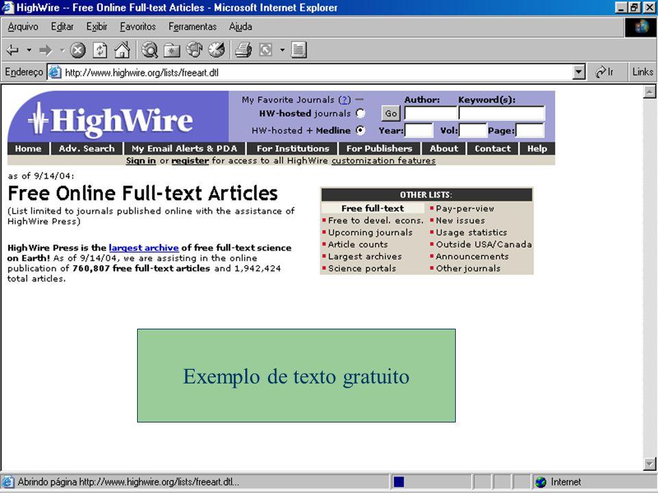 Exemplo de texto gratuito