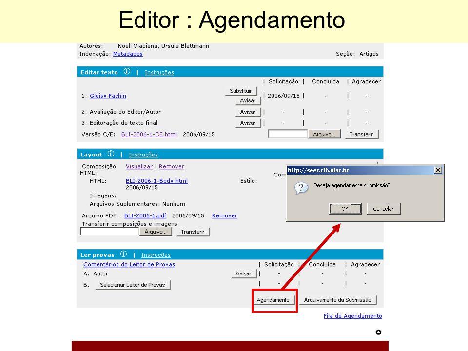 Editor : Agendamento