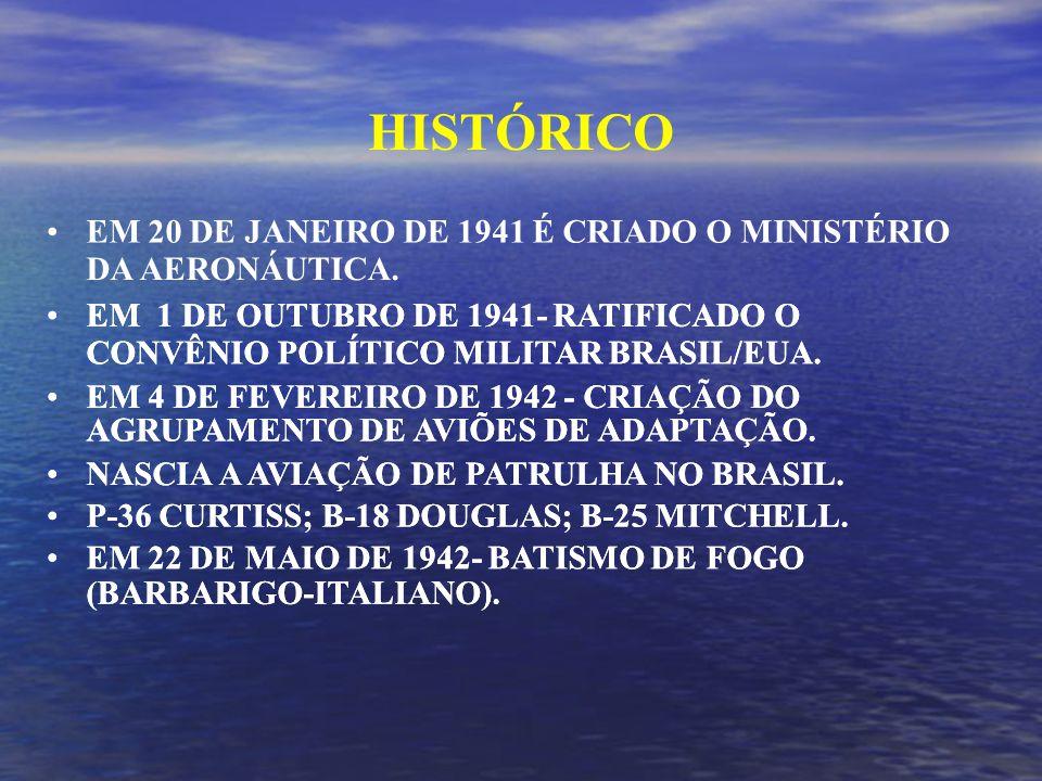 HISTÓRICO EM 20 DE JANEIRO DE 1941 É CRIADO O MINISTÉRIO DA AERONÁUTICA.