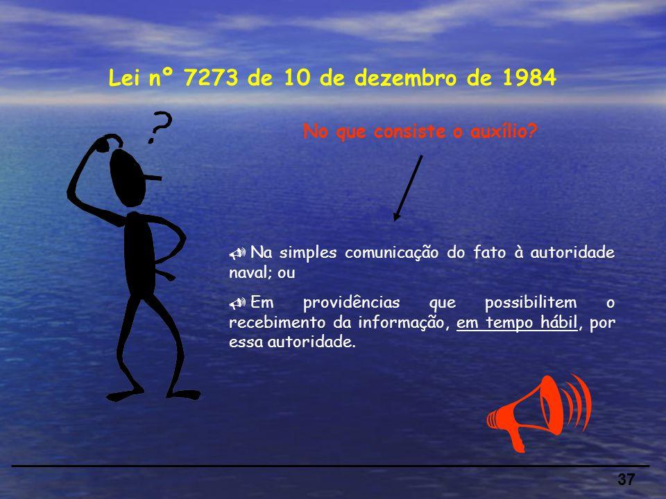 37 Lei nº 7273 de 10 de dezembro de 1984 No que consiste o auxílio.