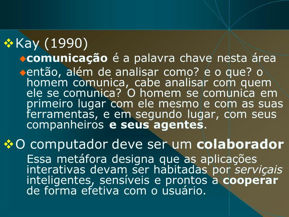 Kay (1990) comunicação é a palavra chave nesta área então, além de analisar como? e o que? o homem comunica, cabe analisar com quem ele se comunica? O