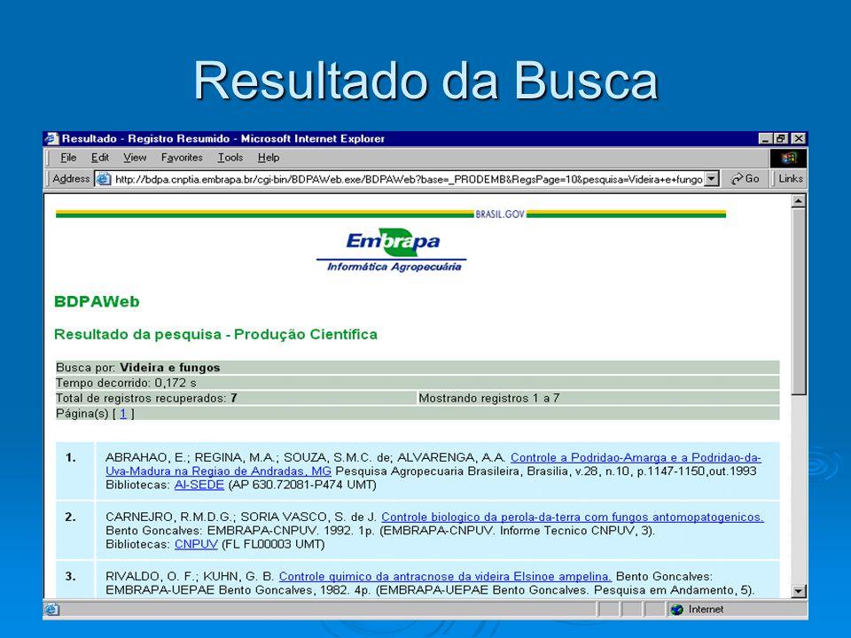Artigos encontrados no site da EMBRAPA KUHN, G.B.