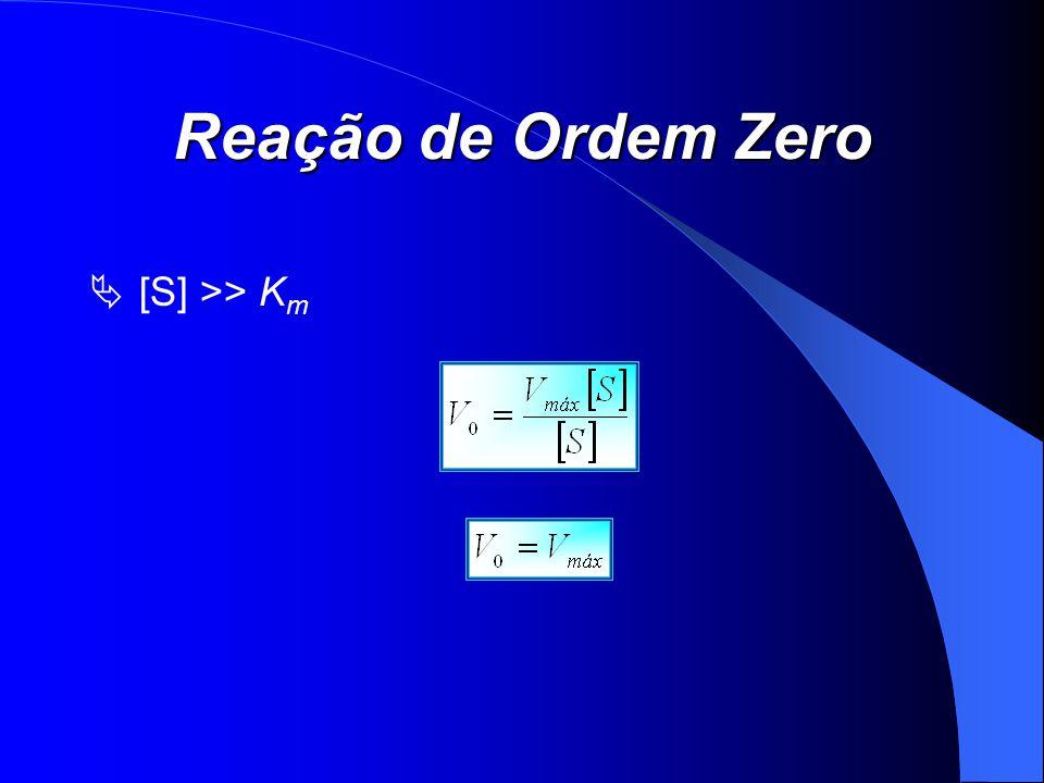 Reação de Ordem Zero [S] >> K m