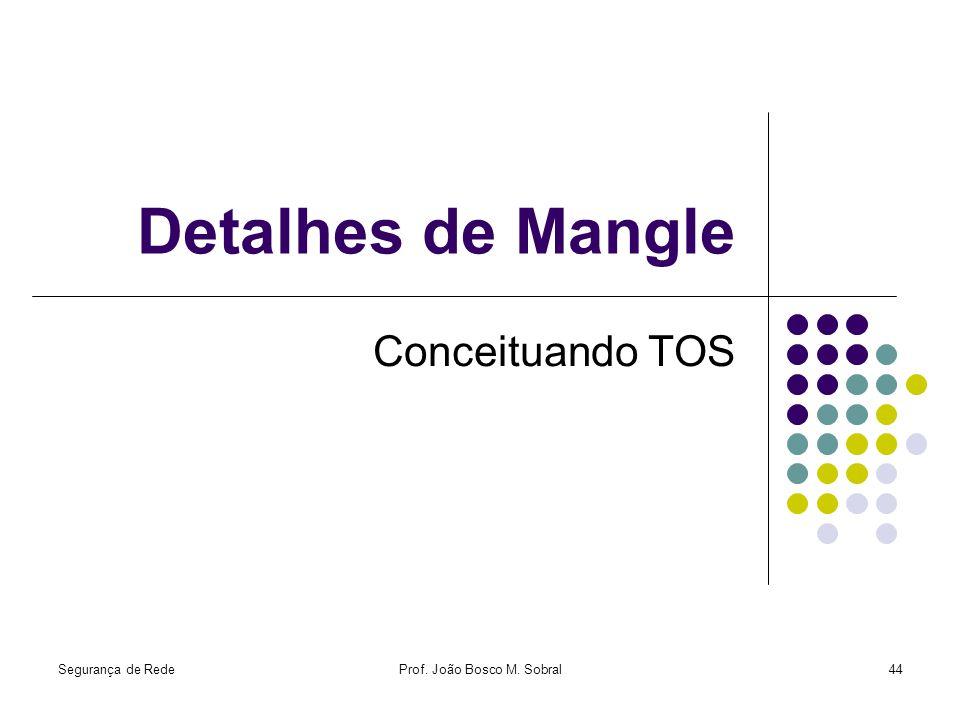 Segurança de RedeProf. João Bosco M. Sobral44 Detalhes de Mangle Conceituando TOS