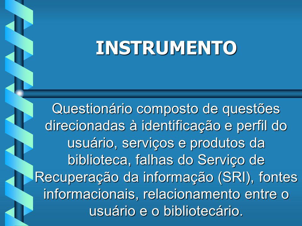 Procura direto na estante: 29,7% Possui facilidade para encontrar informações: 45,4% Solicitam ajuda do bibliotecário: 83,8% ACERVO