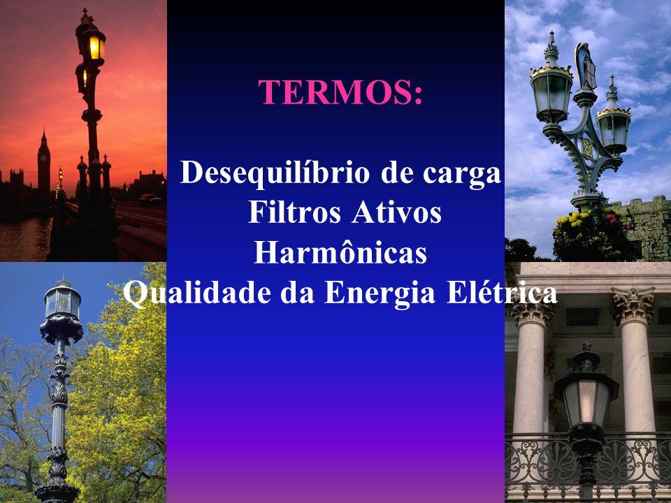 TERMOS: Desequilíbrio de carga Filtros Ativos Harmônicas Qualidade da Energia Elétrica