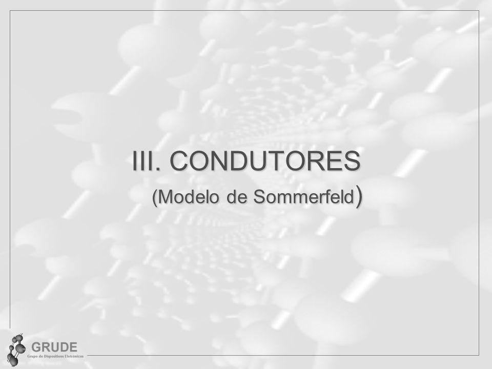 III. CONDUTORES (Modelo de Sommerfeld )