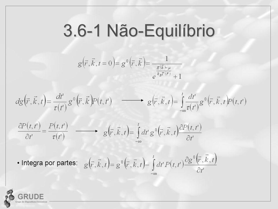 3.6-1 Não-Equilíbrio Integra por partes: