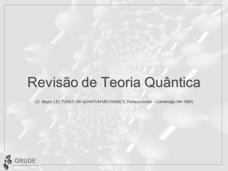 Revisão de Teoria Quântica (G.