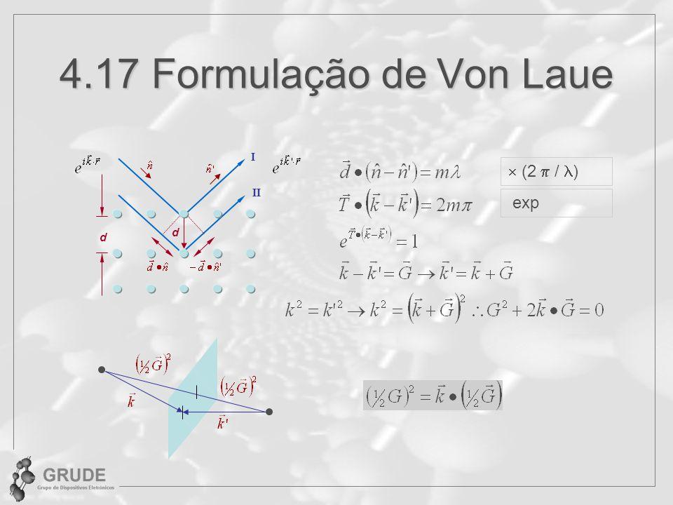 4.17 Formulação de Von Laue d I II d (2 / ) exp