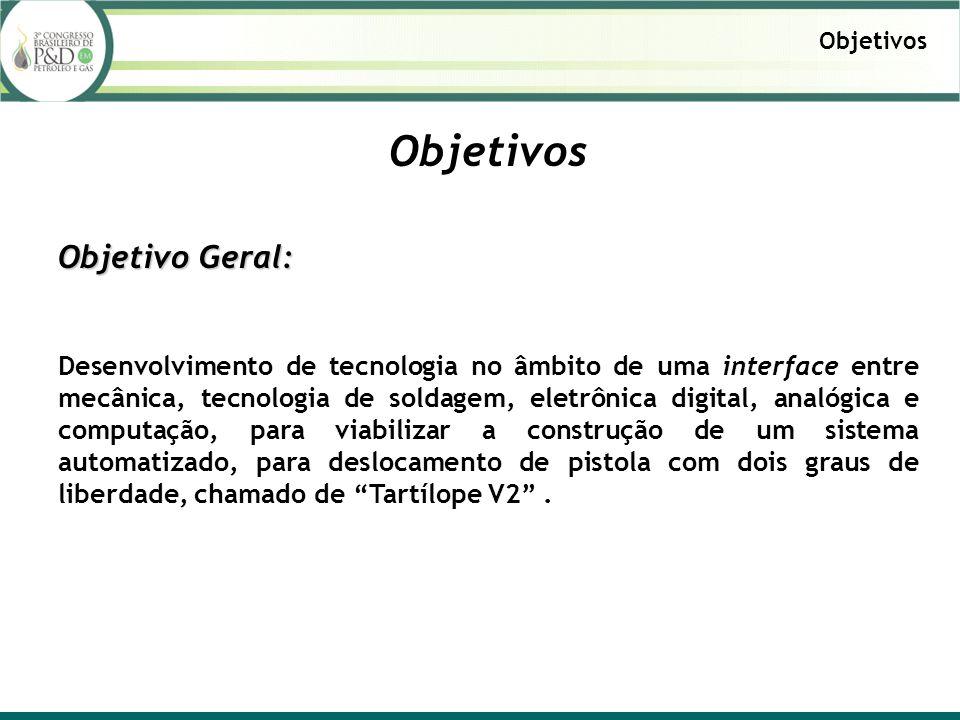 Objetivo Geral: Desenvolvimento de tecnologia no âmbito de uma interface entre mecânica, tecnologia de soldagem, eletrônica digital, analógica e compu