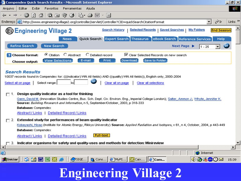 Engineering Village 2