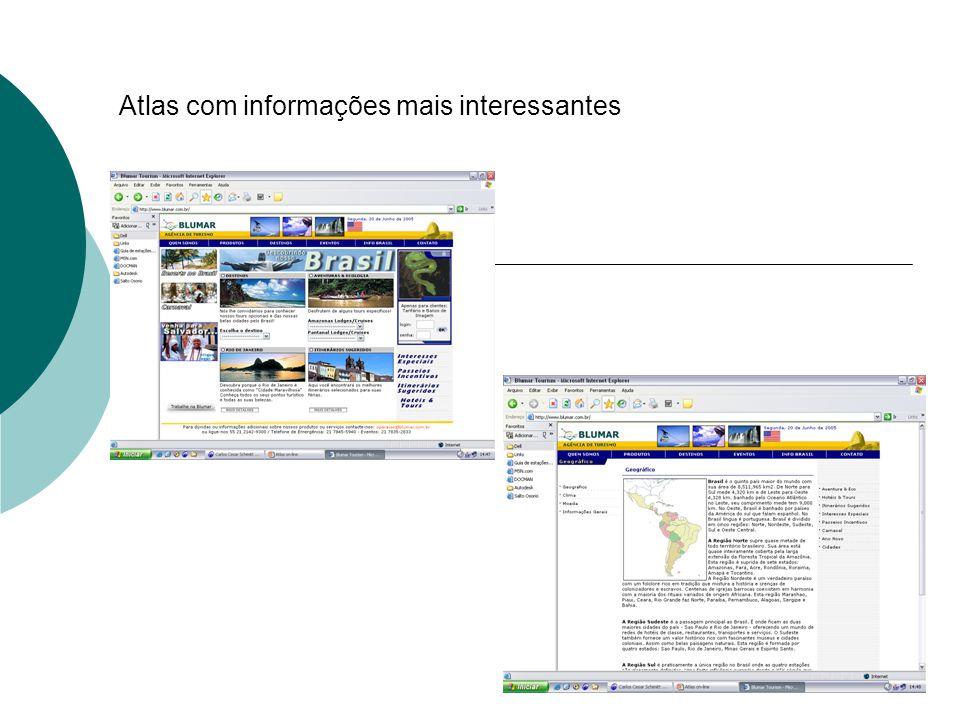 Resultados - Criação de 19 sites com Atlas no Winisis utilizando a base de dados BVBCI - Verificação da Base de dados existente no Winisis com descarte de todos os sites ali existentes por motivo de estarem fora do acesso.