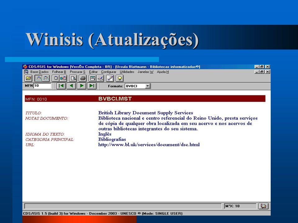 Winisis (Atualizações)