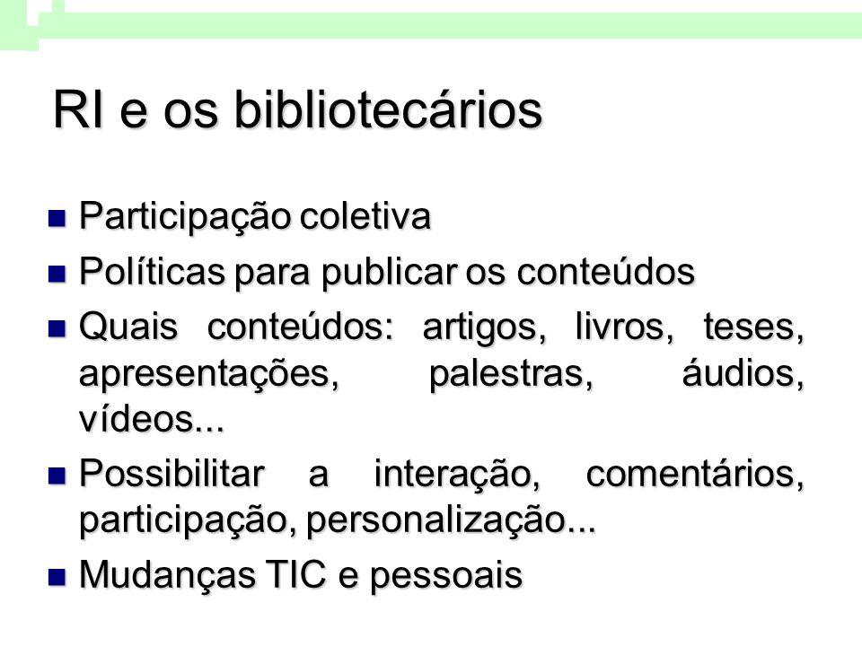 Reflexões Competências, habilidades e atitudes dos bibliotecários para organizar, disponibilizar, disseminar e acessar conteúdos on-line: You Tube, Twitter, Editoras tradicionais, Blogs, RSS, Wikis,...
