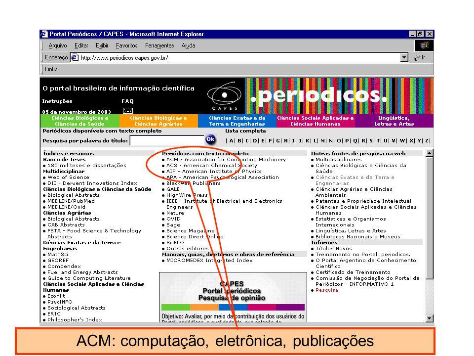 ACM: computação, eletrônica, publicações