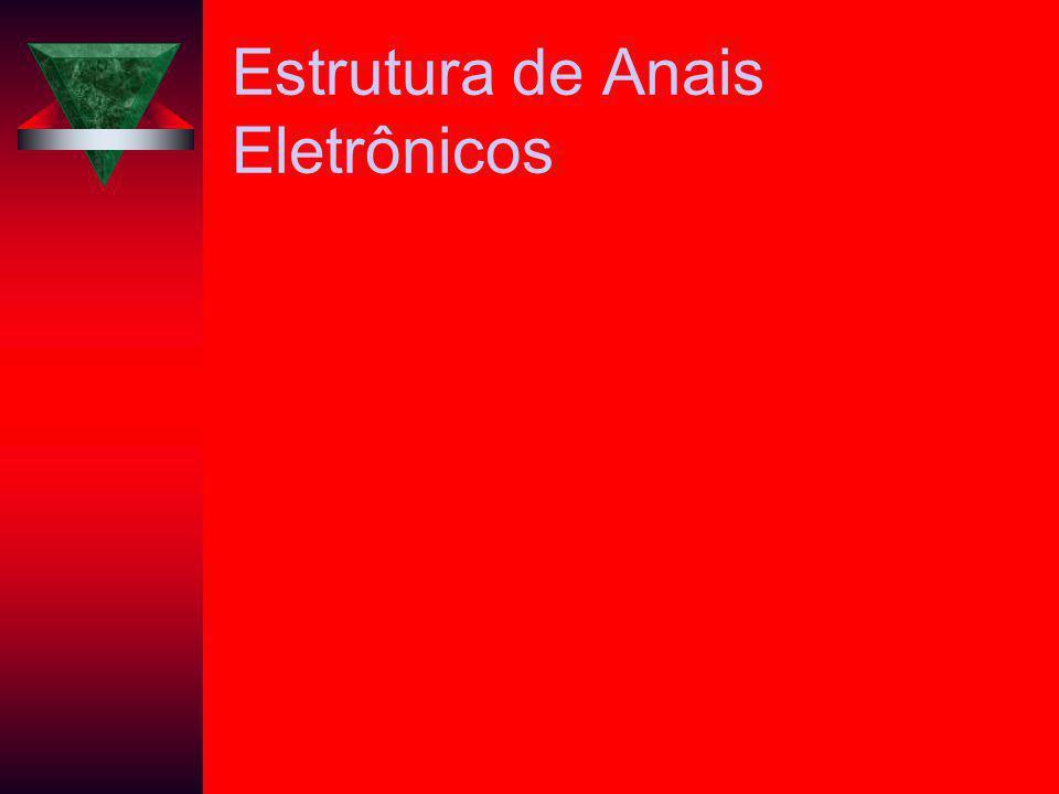 Estrutura de Anais Eletrônicos