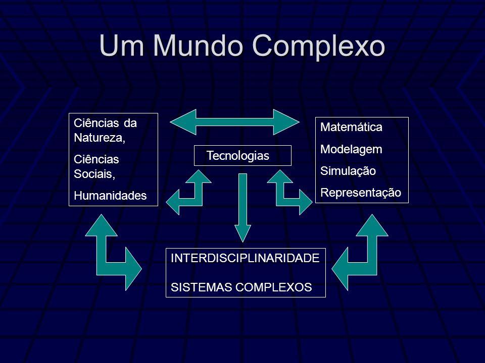 Um Mundo Complexo Ciências da Natureza, Ciências Sociais, Humanidades Matemática Modelagem Simulação Representação INTERDISCIPLINARIDADE SISTEMAS COMPLEXOS Tecnologias