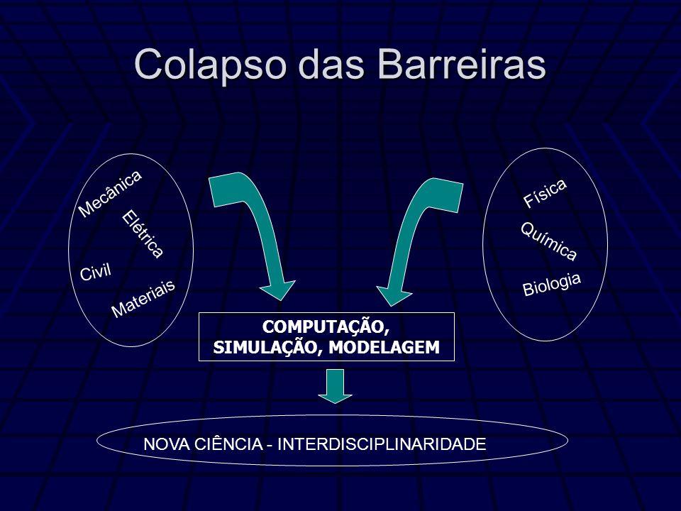 Colapso das Barreiras Mecânica Elétrica Civil Materiais Física Química Biologia NOVA CIÊNCIA - INTERDISCIPLINARIDADE COMPUTAÇÃO, SIMULAÇÃO, MODELAGEM
