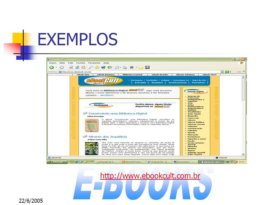 22/6/2005 EXEMPLOS http://www.ebookcult.com.br