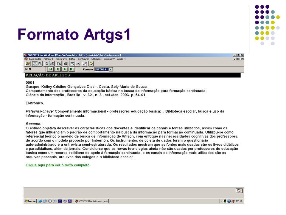 Formato Artgs1