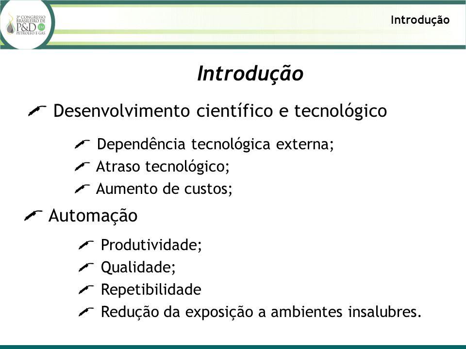 Introdução Desenvolvimento científico e tecnológico Introdução Dependência tecnológica externa; Atraso tecnológico; Aumento de custos; Automação Produ