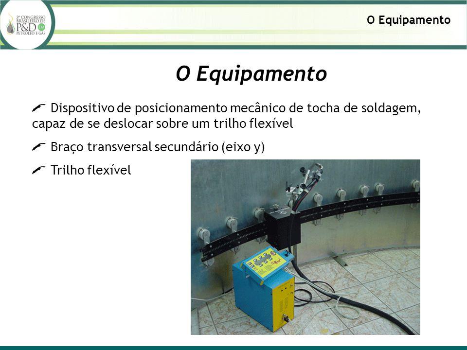 Dispositivo de posicionamento mecânico de tocha de soldagem, capaz de se deslocar sobre um trilho flexível Braço transversal secundário (eixo y) Trilh