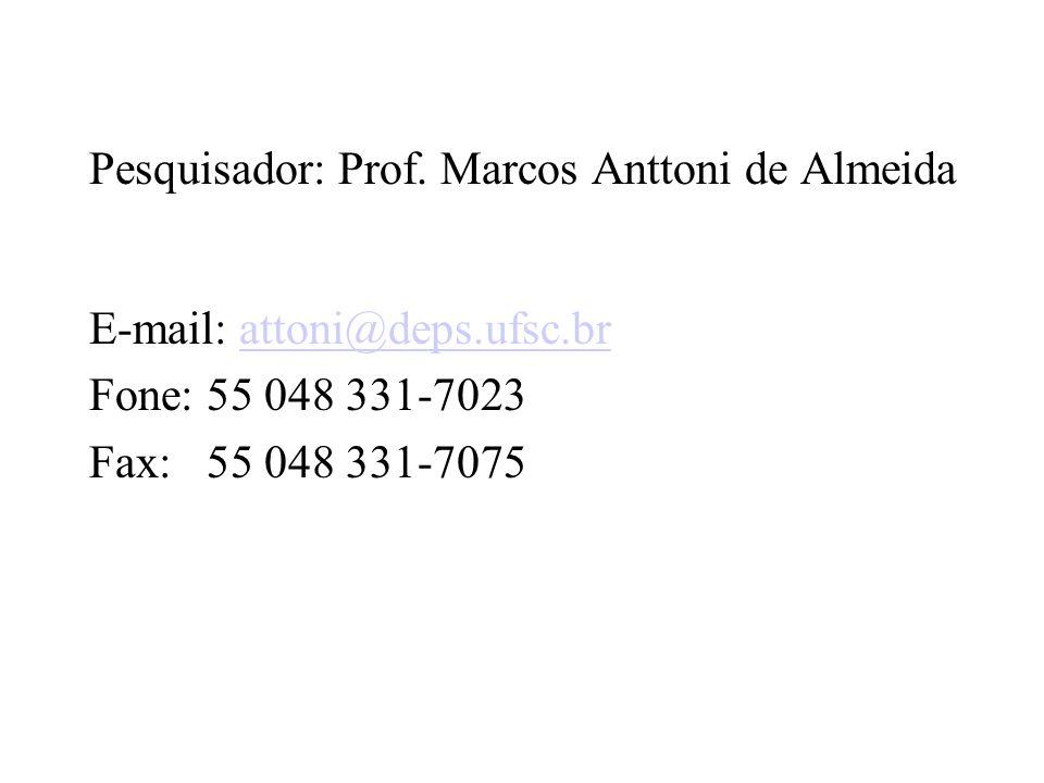 Pesquisador: Prof.