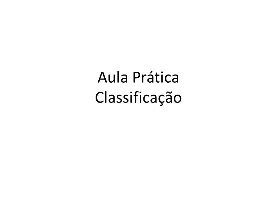 Aula Prática Classificação