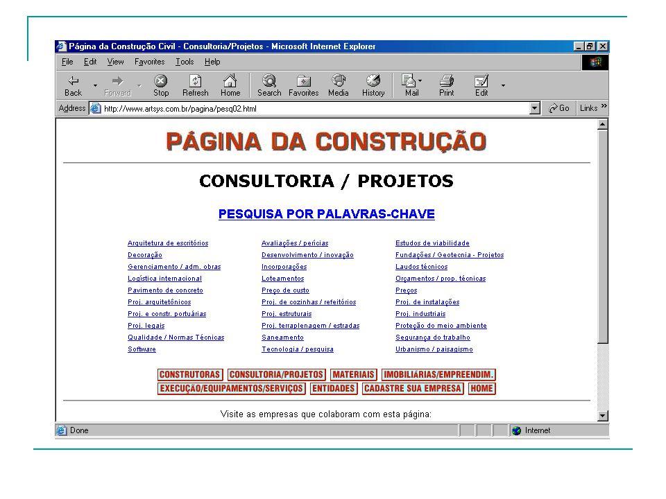 Referências: http://www.artsys.com.br/pagina/index.html http://www.cobracon.org.br/ http://www.aesetorial.com.br/construcao/ http://www.curitiba-parana.com/construcao.htm http://www.institutodopvc.org/constciv.htm http://csna0004.csn.com.br/portal/page?_pageid=858,78792&_da d=ebiz&_schema=PORTAL http://www.fatecsp.br/index.php?action=4&page=2 http://www.seade.gov.br/outrossitios/index.html http://www.piniweb.com/ http://www.periodicoscapes.gov.br/ http://www.artsys.com.br/pagina/index.html http://www.cobracon.org.br/ http://www.aesetorial.com.br/construcao/ http://www.curitiba-parana.com/construcao.htm http://www.institutodopvc.org/constciv.htm http://csna0004.csn.com.br/portal/page?_pageid=858,78792&_da d=ebiz&_schema=PORTAL http://www.fatecsp.br/index.php?action=4&page=2 http://www.seade.gov.br/outrossitios/index.html http://www.piniweb.com/ http://www.periodicoscapes.gov.br/