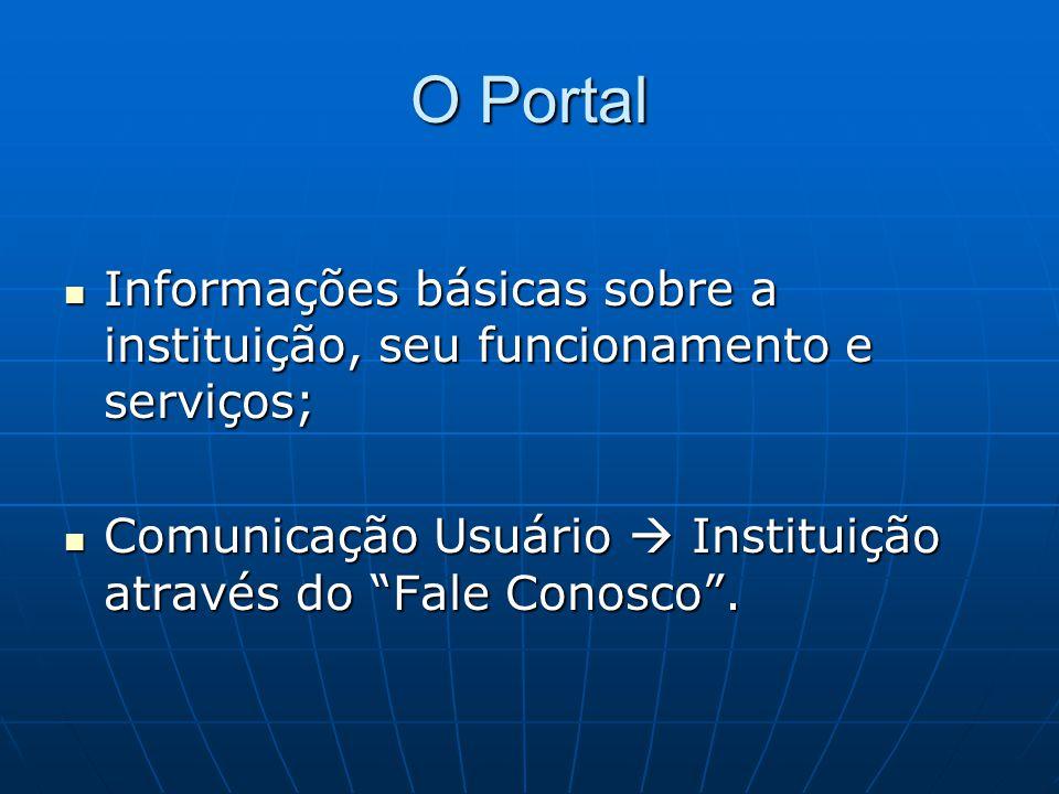 O Portal – Página inicial