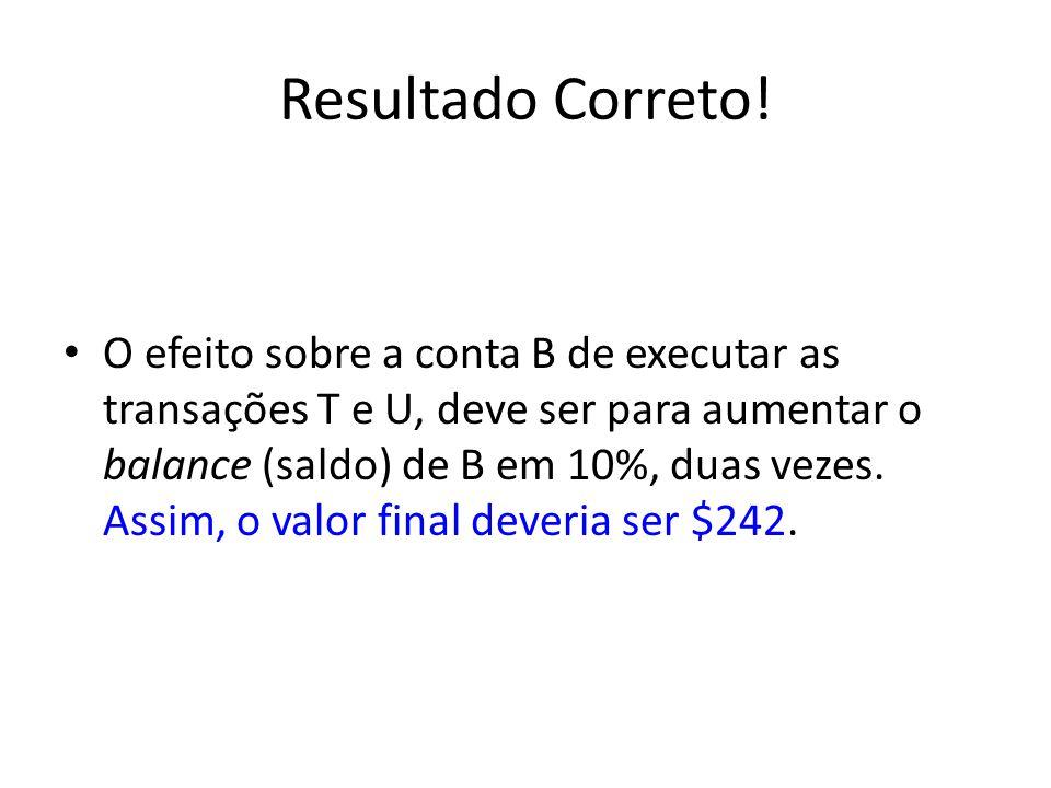 Resultado Correto.