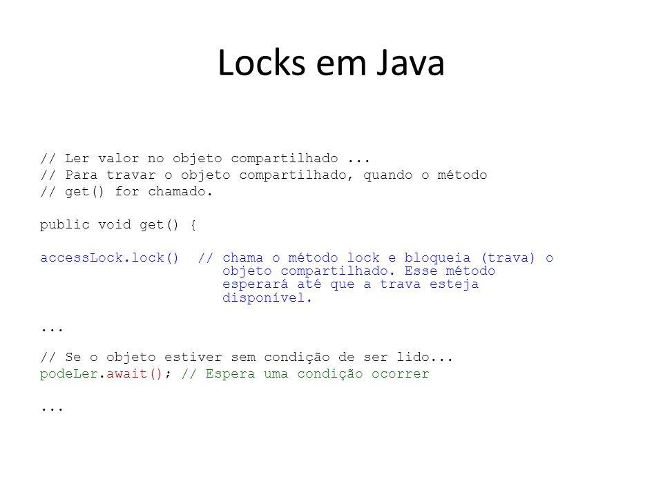 Locks em Java // Ler valor no objeto compartilhado...