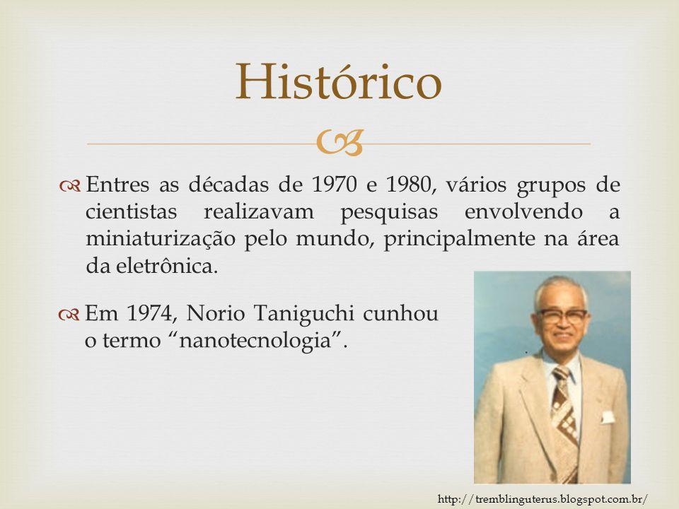 Entres as décadas de 1970 e 1980, vários grupos de cientistas realizavam pesquisas envolvendo a miniaturização pelo mundo, principalmente na área da e