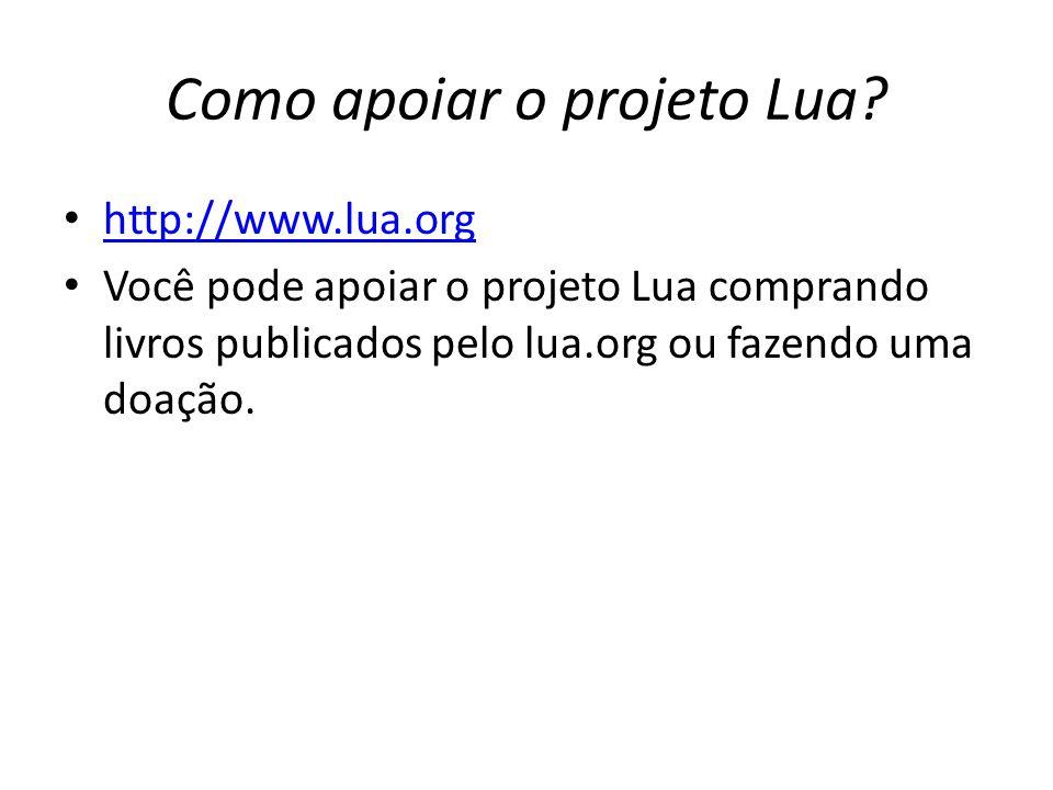 Como apoiar o projeto Lua.