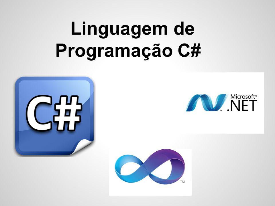 C# Orientada a objetos, fortemente tipada, desenvolvida pela Microsoft como parte da plataforma.NET.
