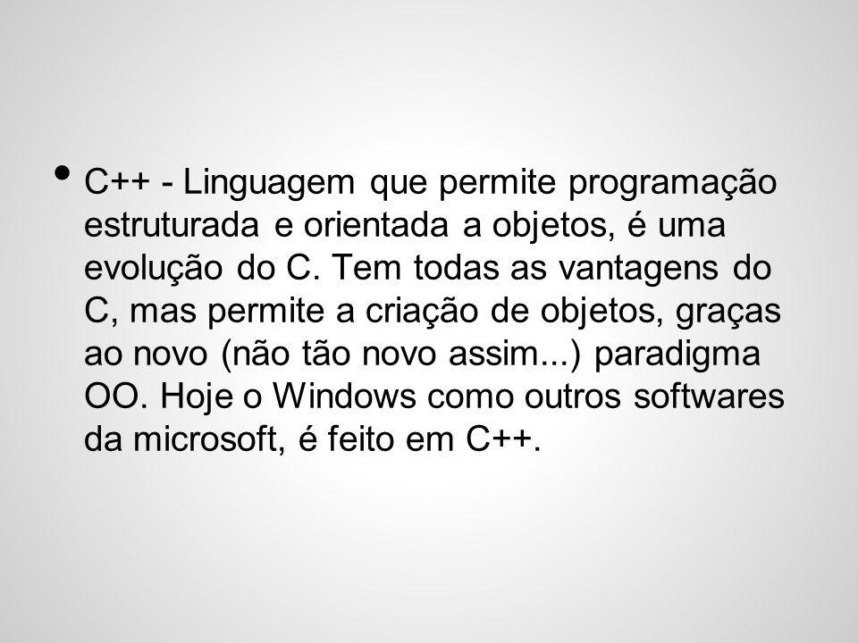 C# - É a resposta da microsoft ao Java.