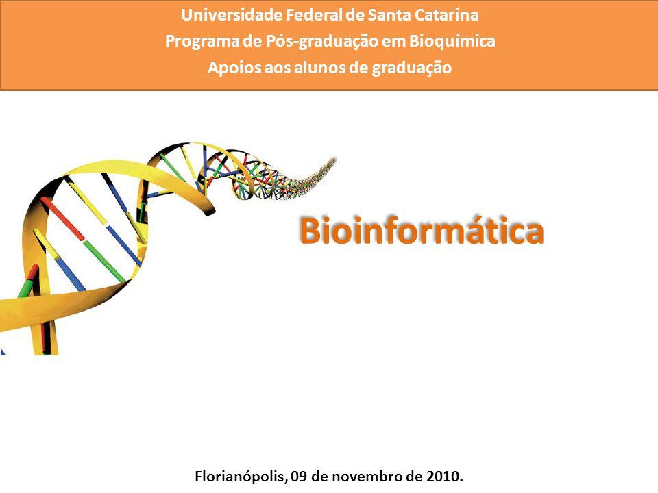 Universidade Federal de Santa Catarina Programa de Pós-graduação em Bioquímica Apoios aos alunos de graduação Florianópolis, 09 de novembro de 2010.