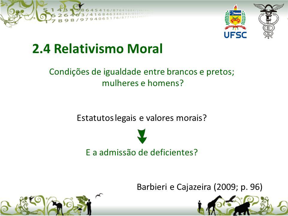 Pesquise sobre o assunto O que é Ética Empresarial? Barbieri e Cajazeira (2009; p. 97)