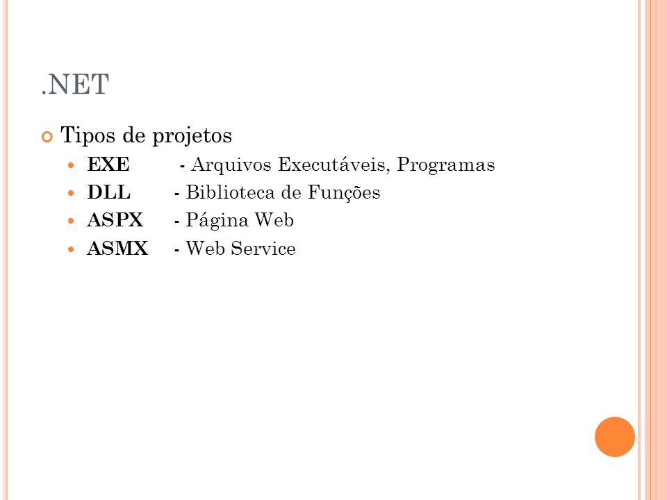 ASP Estrutura de bibliotecas básicas para processamento de linguagens server-side de sistemas web Resultado final -> HTML Servidor Windows: IIS ( Internet Information Service ) Servidor Linux: Tomcat