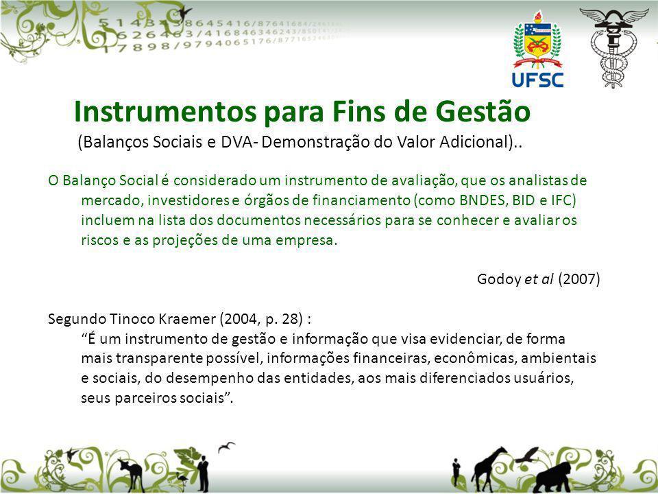 Existem três modelos de Balanço Social mais utilizados no Brasil (IBASE, GRI e Instituto Ethos).Apesar da existência desses três modelos, várias entidades preferem criar formatos próprios, definidos dentro de suas estratégias de comunicação.
