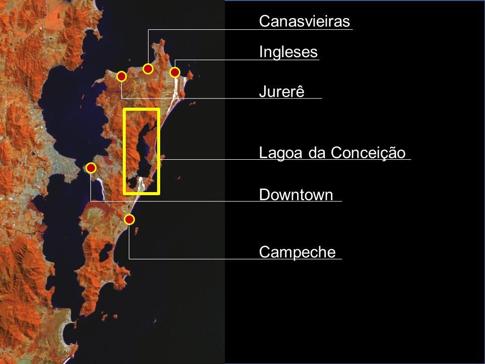 Ingleses Canasvieiras Jurerê Lagoa da Conceição Downtown Campeche
