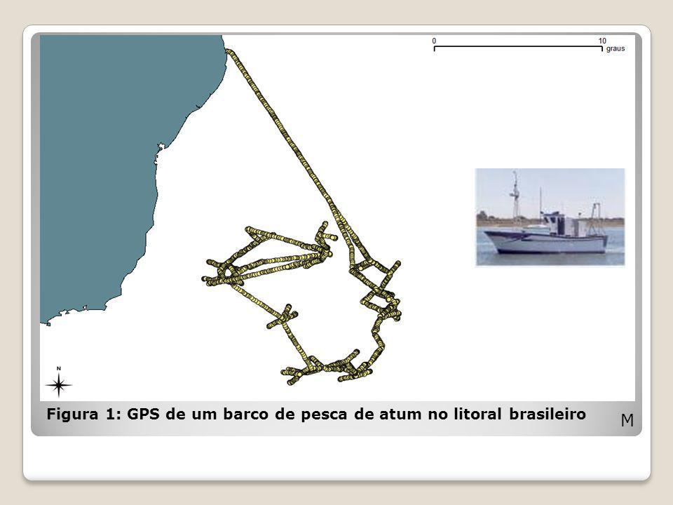 Figura 1: GPS de um barco de pesca de atum no litoral brasileiro M