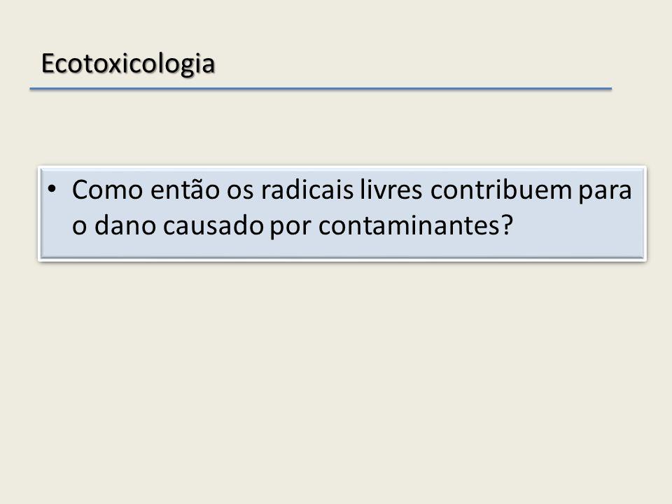 Ecotoxicologia Como então os radicais livres contribuem para o dano causado por contaminantes?