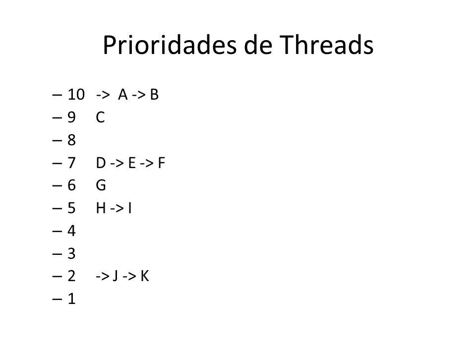 Threads na Linguagem Java O conceito de thread está presente em Java através da classe java.lang.Thread.