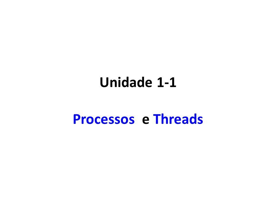 Mudança de Estado de um Processo Processos/Threads trocam de estado de acordo com o: – Algoritmo de escalonamento.