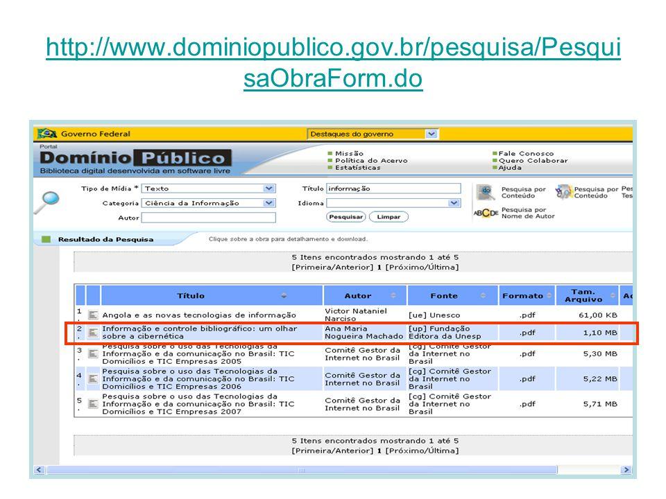 http://www.dominiopublico.gov.br/pesquisa/Pesqui saObraForm.do