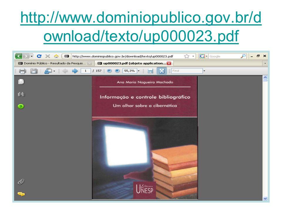http://www.dominiopublico.gov.br/d ownload/texto/up000023.pdf