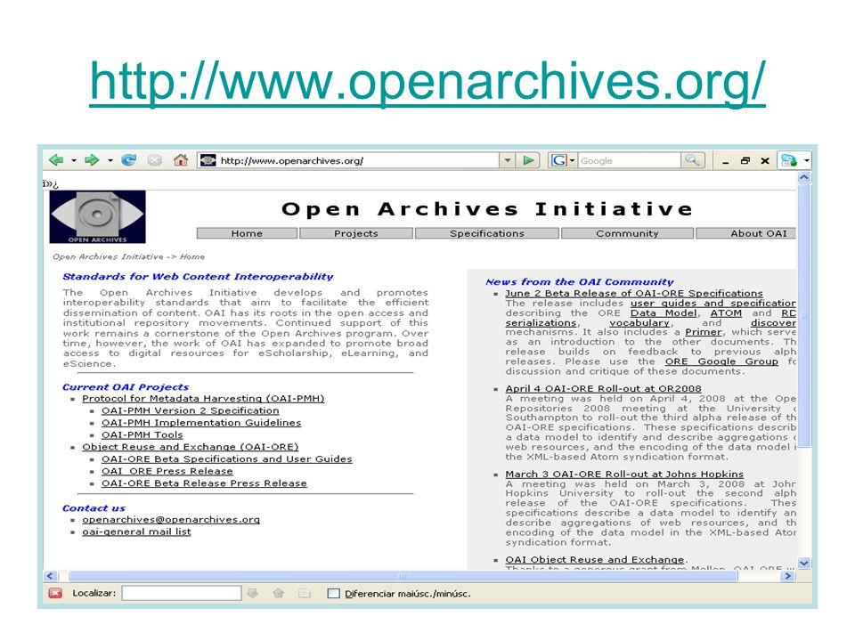 http://www.openarchives.org/