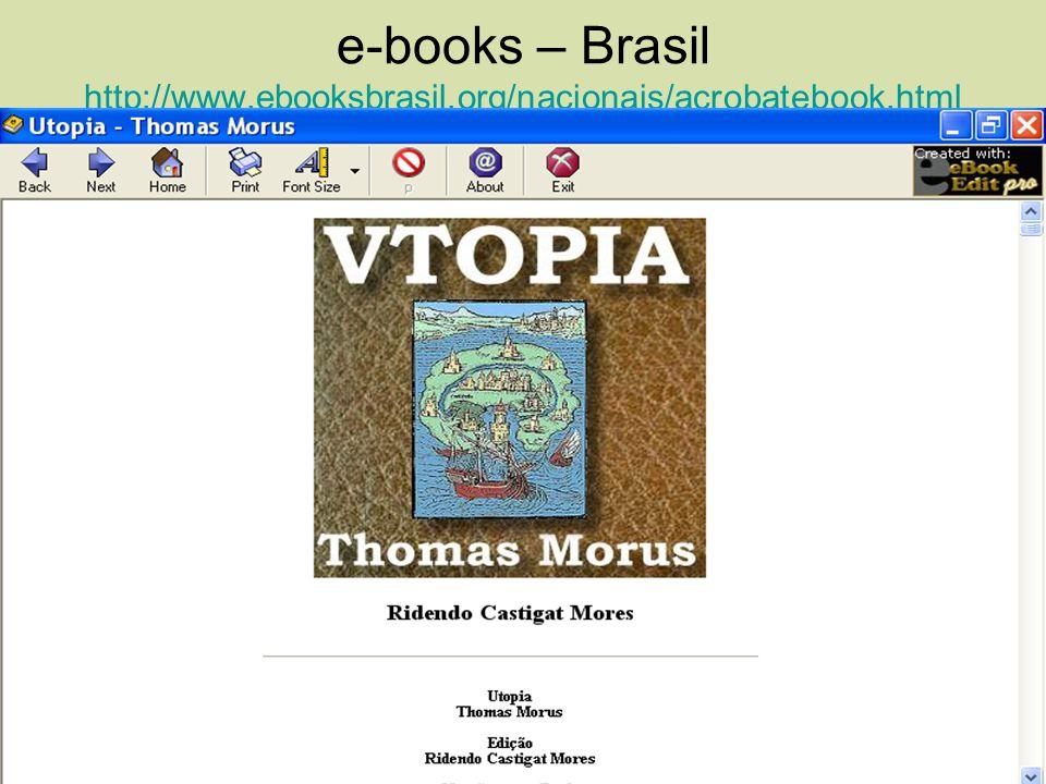 e-books – Brasil http://www.ebooksbrasil.org/nacionais/acrobatebook.html http://www.ebooksbrasil.org/nacionais/acrobatebook.html Veja o livro de Thoma